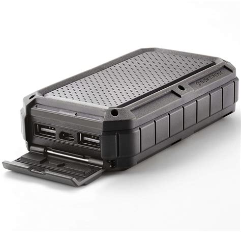 Rugged External Battery rugged 12 000mah battery pack is waterproof adventure