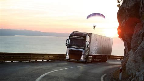 Volvo Trucks Technical Support Ad Of The Day A Volvo Truck Tows A Paraglider In Brand S