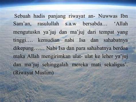 Keluarnya Dajjal Imam Mahdi Ya Juj Ma Juj Dan Nabi Isa Bin Maryam kronology hari kiamat