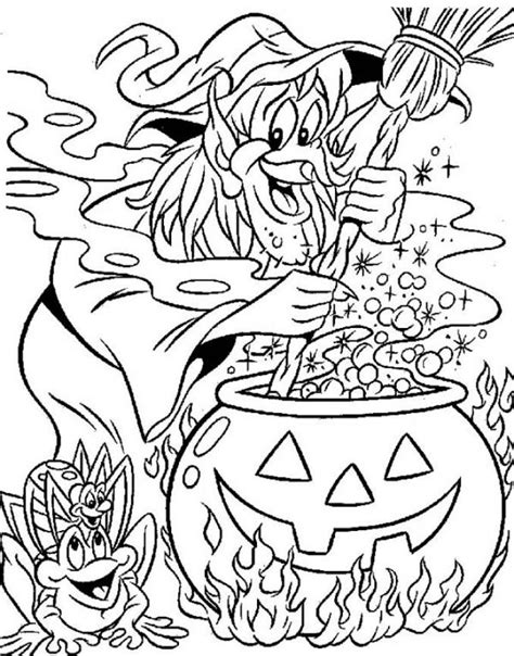 coloring pages of halloween witches halloween witch coloring pages coloring home