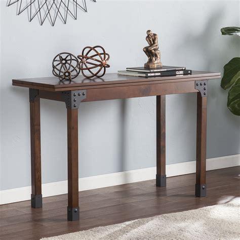 flip top console dining table deveron flip top console to dining table dining tables