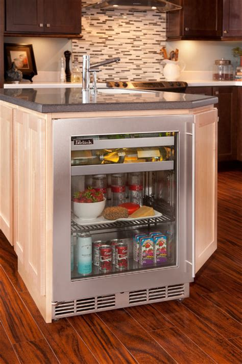 kitchen island with refrigerator kitchen island w perlick shallow depth refrigeration
