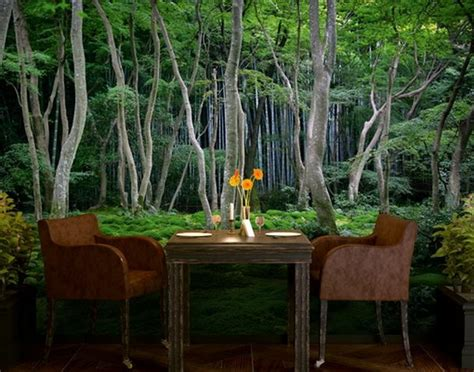 wohnzimmer natur wanddeko mit fototapeten unglaublich sch 246 ne beispiele