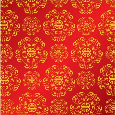 Chinese Pattern Background Free Download | chinese style background vector free vector in