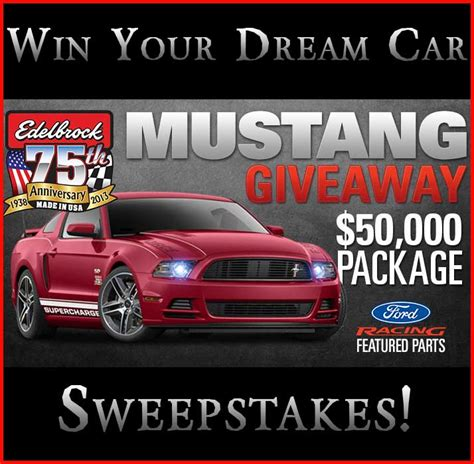 Vehicle Sweepstakes - mustang giveaway win a mustang car sweepstakes 2013 sweeps maniac