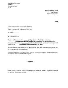 Exemple De Lettre De Demande D Information Lettre D Information De Changement D Adresse Bouygues Mod 232 Le De Lettre Gratuit Exemple De