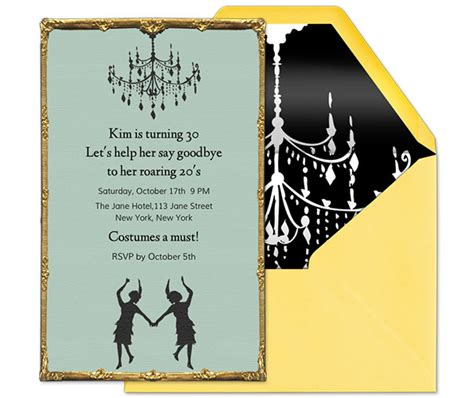 roaring twenties invitation template roaring 20s theme guide evite