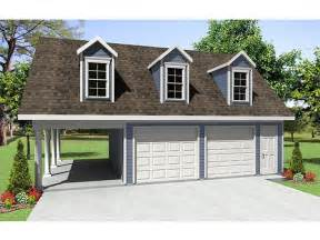 Garage Plan by Garage Plans With Carport 2 Car Garage Plan With Carport