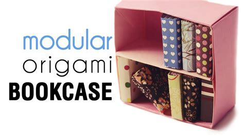 papercraft origami bookcase tutorial modular