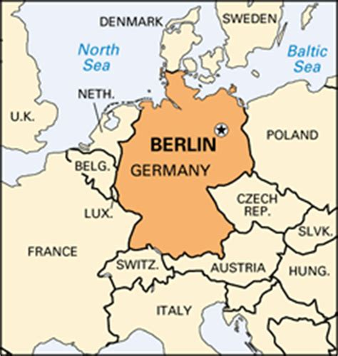 map of germany showing berlin capital germany map