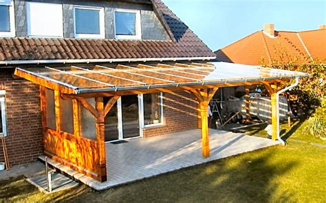 Terrassendach Bauen by Terrassenuberdachung Holz Glasdach Bvrao