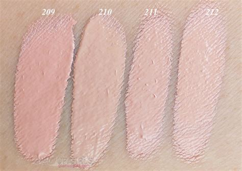 Revlon Colorstay Mineral Foundation 2in1 swatches of dermacol makeup cover shades makeup