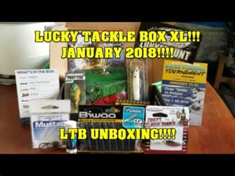 payload xl youtube januari 2018 lucky tackle box xl january 2018 ltb unboxing youtube
