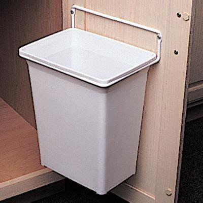 Sink Trash Can Door Mount by Knape Vogt Door Mounted Waste Basket Dwb 975 R W