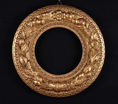 cornice rotonda cornice rotonda scolpita e dorata antiquariato e dipinti