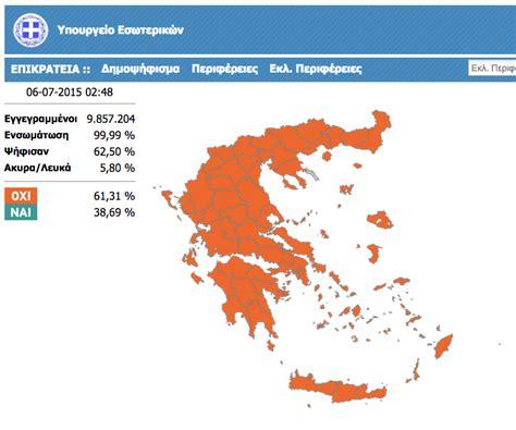 sito ministero degli interni web sul il popolo greco ha detto no