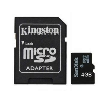 Micro Sd 4gb V Non Adaptor 4gb micro sd card with adapter