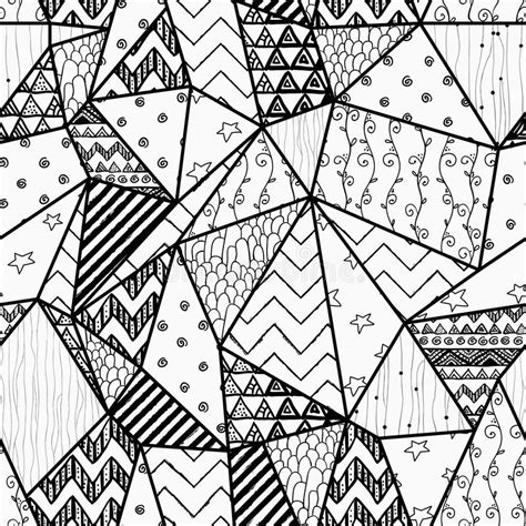 pattern background sketch geometric hand drawn abstract seamless background stock
