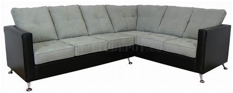 vinyl sectional light grey fabric black vinyl modern sectional sofa