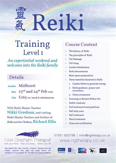 reiki level  training workshop nikki gresham record