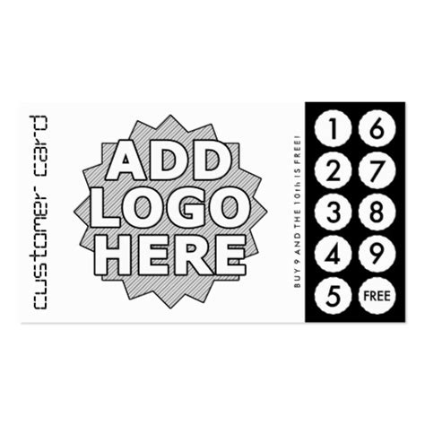 business loyalty cards templates punch cards business card templates bizcardstudio