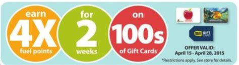 Gift Cards At Kroger List - 4x fuel points when you buy gift cards is back kroger krazy