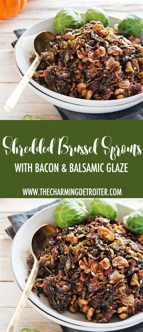 Sprouts Gift Card Survey - shredded brussel sprouts with bacon and balsamic glaze the charming detroiter