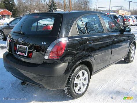 Kia Hatchback 2008 Black 2008 Kia Rio5 Lx Hatchback Exterior Photo