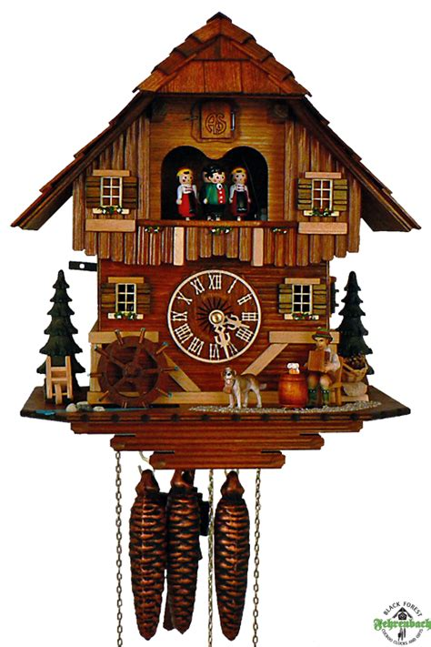 Home Decor Germany by Cuckoo Clock 1 Day Chalet With Accordion Player Schneider