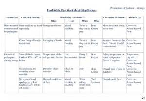 safety plan template bc food safety sushi