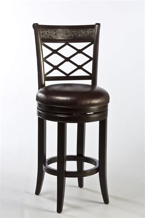 swivel top bar stools spalding swivel bar stool with etched pattern