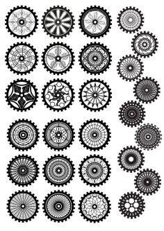 gear  dxf files vectors axisco