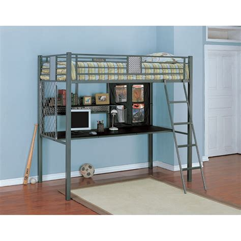 Study Loft Bunk Bed Dreamfurniture Bedroom 174 Study Loft Bunk Bed