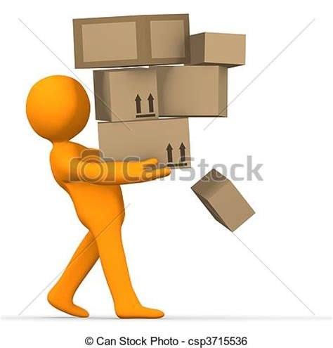 Home Plans For Small Lots stock illustration of overload delivery a person