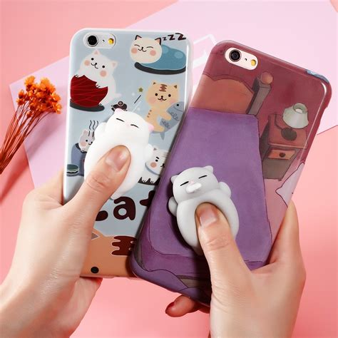Squishy Cat Silikon Premium Custom Iphone 6 6s 6 Plus 7 7s 7 Plus 3d squishy cat iphone cases