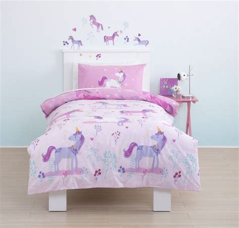 unicorn bedding cute cute cute magical unicorn toddler cot bed duvet