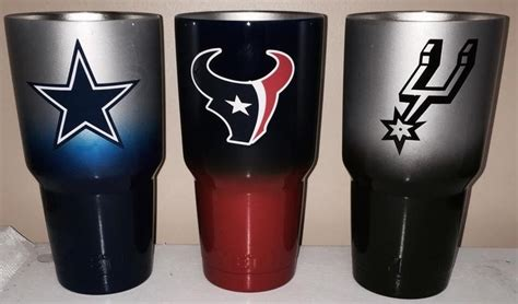 cup designs dallas houston texans spurs 30oz yeti cups lonestar concepts design lonestarjess15 yahoo