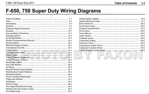 ford      super duty truck wiring diagram