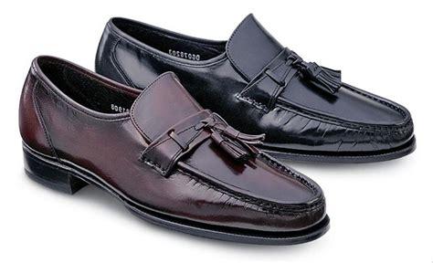 florsheim tassel loafers florsheim s leather tassel loafers black burg medium
