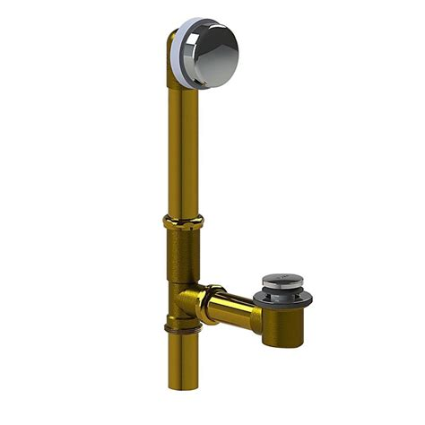 bathtub waste watco 591 series 16 in tubular brass bath waste with foot actuated bathtub stopper in