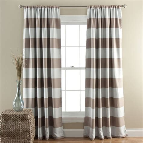 horizontal stripe drapes lush decor stripe blackout windowtreatment horizontal