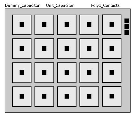 layout capacitor array a low noise low power ota with adjustable gain pid feedback network for eeg soc arrays quot intechopen