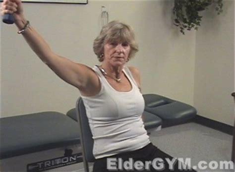 arm toning  seniors   elderly diagonal shoulder