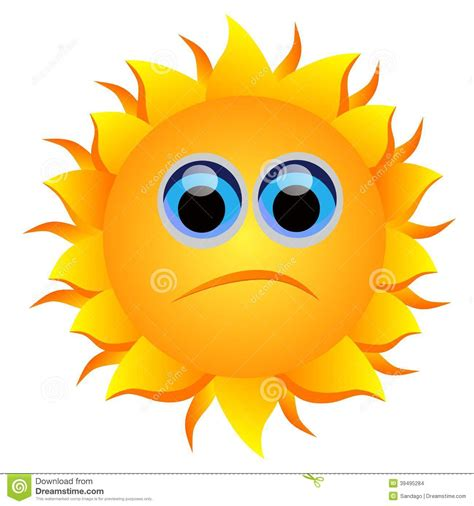 sun l for sad sad sun stock vector image of object colorful nature