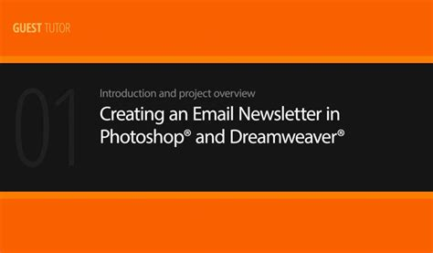 website tutorial photoshop and dreamweaver creating an email newsletter in photoshop and dreamweaver