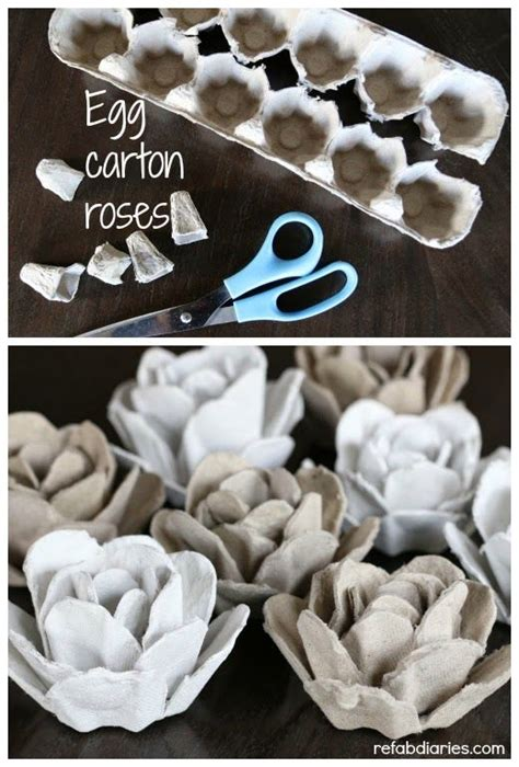 upcycle egg cartons upcycle egg roses upcycle eggs