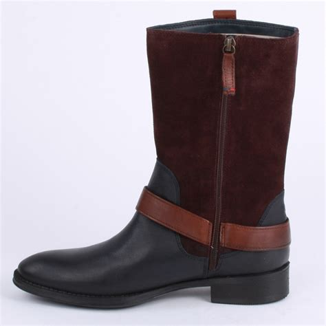 Kickers Slop Suede Leather 02 Black Brown 1 Ca6010 hilfiger hamilton womens ankle boots in black brown