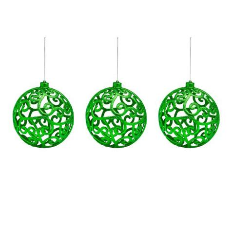 scroll ball christmas ornaments set of 3 christmas tree