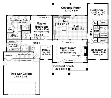 floor plan for a 940 sq ft ranch style home craftsman style house plan 3 beds 2 5 baths 2001 sq ft