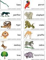 printable animal walk cards jungle theme and activities educatall